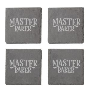 Master Baker Engraved Slate Coaster Set