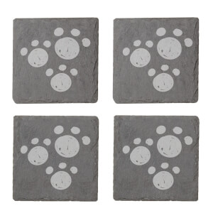 Paw Prints Engraved Slate Coaster Set