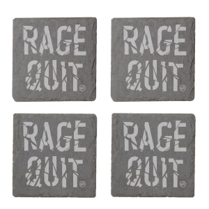 Rage Quit Engraved Slate Coaster Set