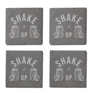 Shake It Up Engraved Slate Coaster Set