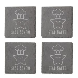 Star Baker! Engraved Slate Coaster Set