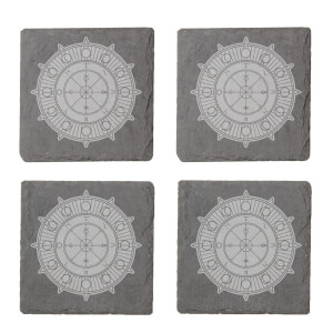 Wheel Of Fortune Engraved Slate Coaster Set