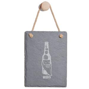 Beer'd Engraved Slate Memo Board - Portrait