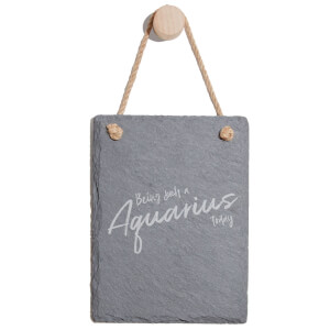 Being Such An Aquarius Today Engraved Slate Memo Board - Portrait