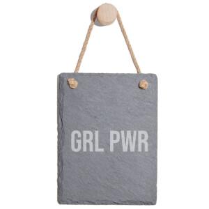 Grl Power Engraved Slate Memo Board - Portrait
