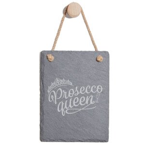 Prosecco Queen Engraved Slate Memo Board - Portrait