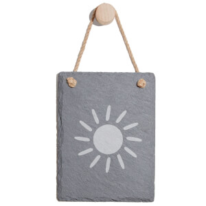 Sun Engraved Slate Memo Board - Portrait
