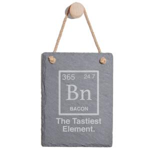The Tastiest Element Engraved Slate Memo Board - Portrait