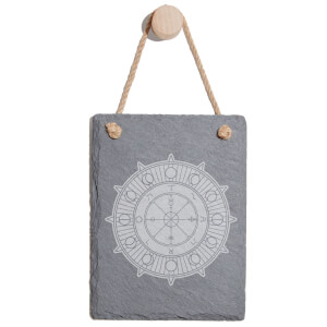Wheel Of Fortune Engraved Slate Memo Board - Portrait