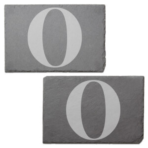 Uppercase O Engraved Slate Placemat - Set of 2