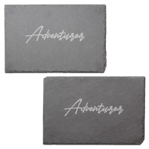 Adventurer Engraved Slate Placemat - Set of 2