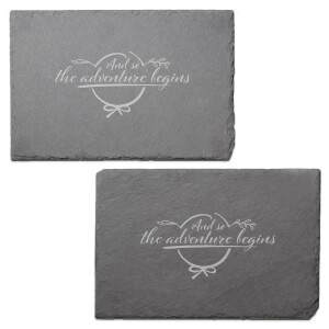 And So The Adventure Begins Engraved Slate Placemat - Set of 2