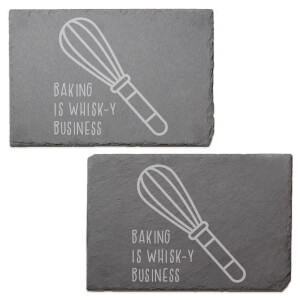 Baking Is Whisk-y Business Engraved Slate Placemat - Set of 2