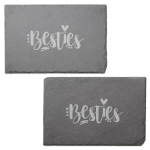 Besties Engraved Slate Placemat - Set of 2