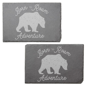 Born To Roam Engraved Slate Placemat - Set of 2