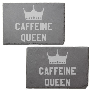 Caffeine Queen Engraved Slate Placemat - Set of 2