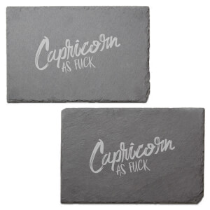 Capricorn As Fuck Engraved Slate Placemat - Set of 2