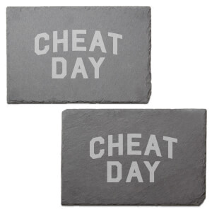 Cheat Day Engraved Slate Placemat - Set of 2