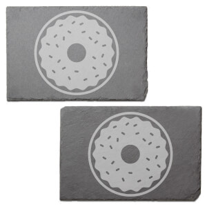 Donut Engraved Slate Placemat - Set of 2