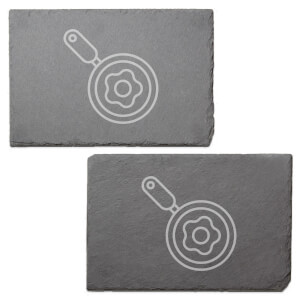 Egg In A Pan Engraved Slate Placemat - Set of 2