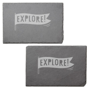 Explore Engraved Slate Placemat - Set of 2