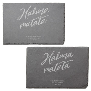 Hakuna Matata Engraved Slate Placemat - Set of 2