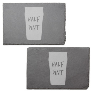 Half Pint Engraved Slate Placemat - Set of 2