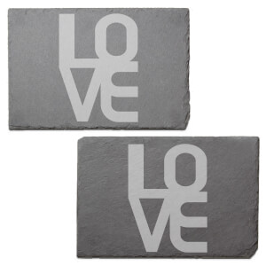 LOVE Engraved Slate Placemat - Set of 2