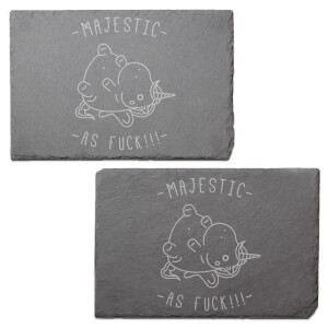 Majestic As Fuck Engraved Slate Placemat - Set of 2