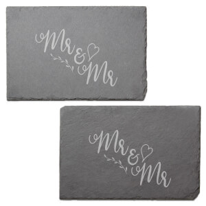 Mr & Mr Engraved Slate Placemat - Set of 2