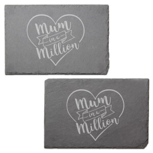 Mum In A Million Engraved Slate Placemat - Set of 2