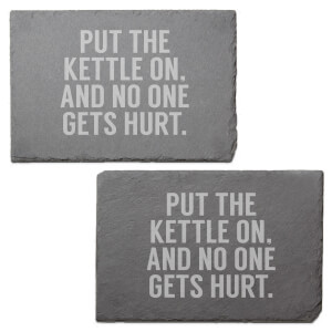 Put The Kettle On Engraved Slate Placemat - Set of 2
