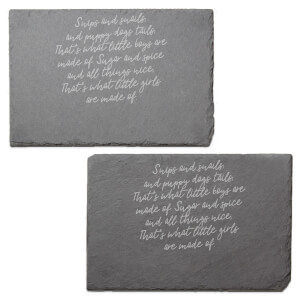 Snips And Snails Engraved Slate Placemat - Set of 2