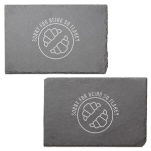 Sorry For Being So Flakey Engraved Slate Placemat - Set of 2