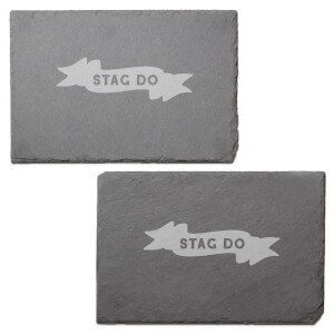 Stag Do Engraved Slate Placemat - Set of 2