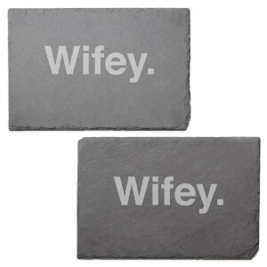 Wifey. Engraved Slate Placemat - Set of 2