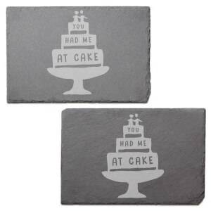 You Had Me At Cake Engraved Slate Placemat - Set of 2