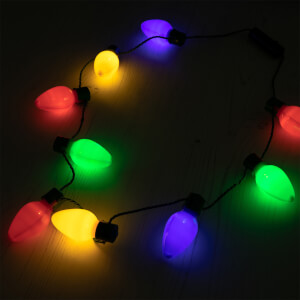 WotNot Creations Light Up Christmas Necklace