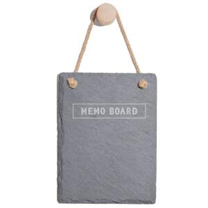 Memo Board Engraved Slate Memo Board - Portrait