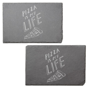 Pizza Is My Life Engraved Slate Placemat - Set of 2