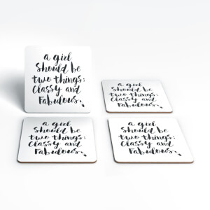 The Motivated Type A Girl Should Be Two Things Coaster Set