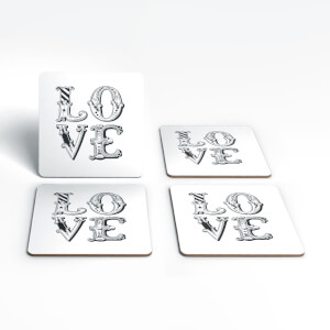 The Motivated Type LOVE Coaster Set