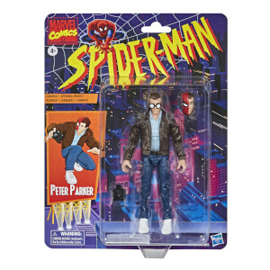 Hasbro Marvel Legends Retro Collection Spider-Man Peter Parker 6-Inch Scale Action Figure