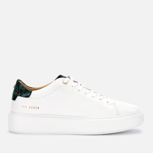 Ted Baker Women's Pixie Leather Flatform Trainers - White