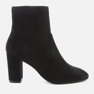 Stuart Weitzman Women's Tinslee 80 Suede Heeled Ankle Boots - Black