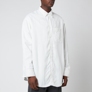 OAMC Men's Henry Striped Shirt - Off White