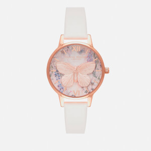 Olivia Burton Women's Glasshouse Vegan Watch - Blush/Rose Gold