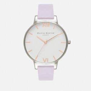 Olivia Burton Women's White Dial - Parma Violet/Rose Gold/Silver