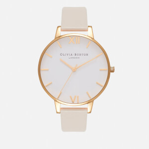 Olivia Burton Women's Vegan Friendly Big Dial Watch - Nude/Gold