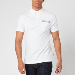 Barbour Men's Tartan Pocket Polo Shirt - White